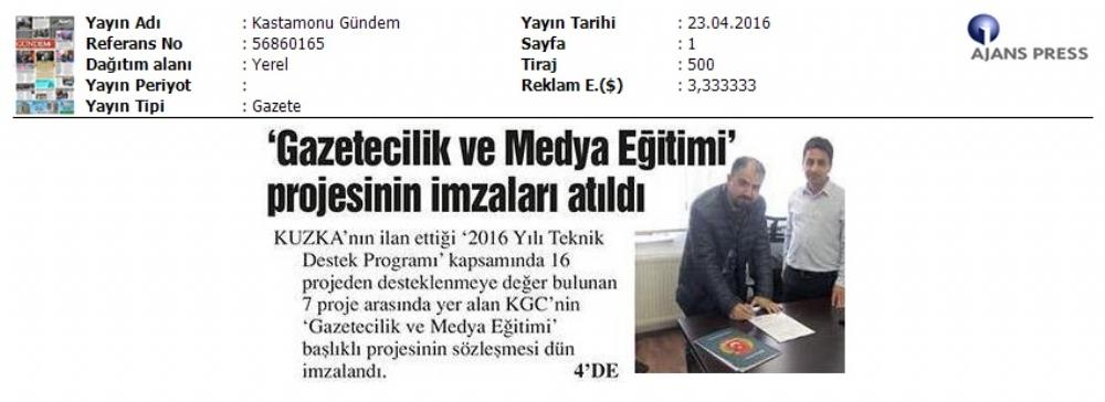 Medya ve Gazetecilik Eðitimi Projesi Ýmza Töreni
