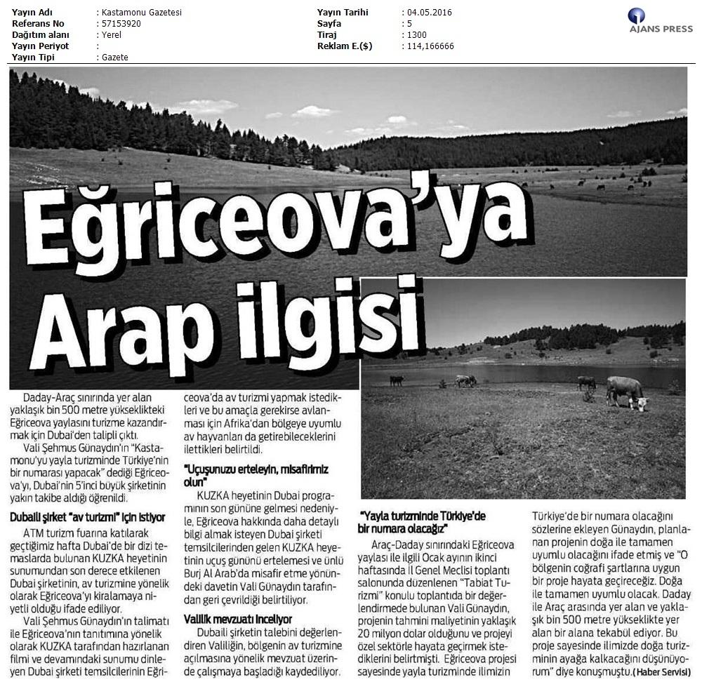 Eðriceova'ya Arap Ýlgisi