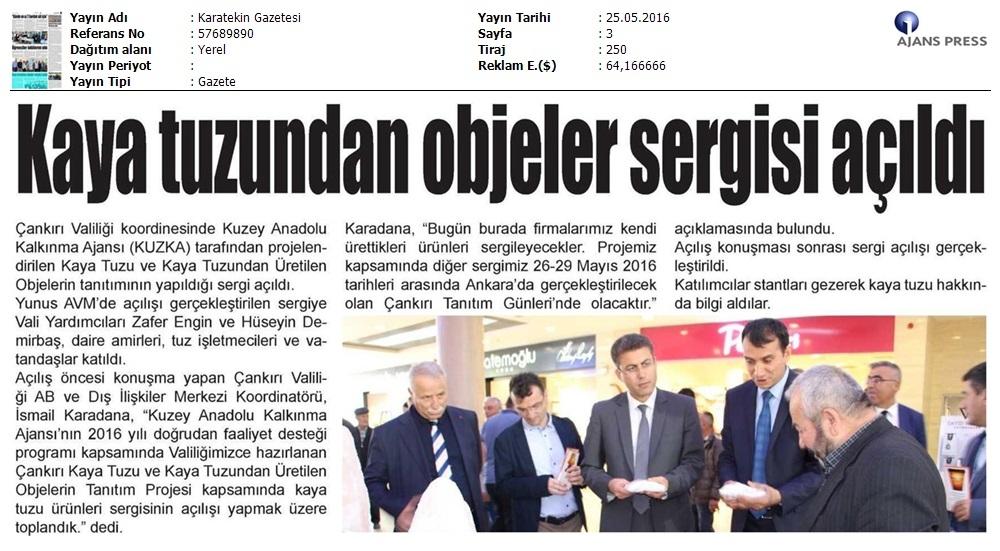 Çankýrý Tuz Eserlerin Tanýtým Sergisi