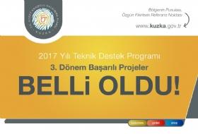 2017 Yýlý Teknik Destek Programý 3. Dönem Baþarýlý Projeler