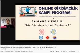 Online Giriþimcilik Kampý Programý Eðitimi